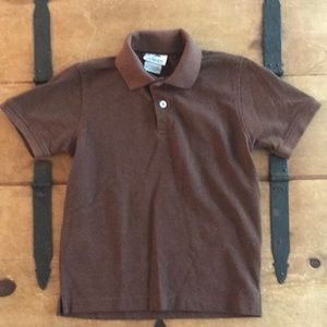 Gioberti Boys Size 6 Brown Polo Uniform Shirt